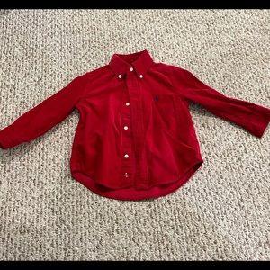 Polo Ralph Lauren Boys Red Corduroy Shirt 2T